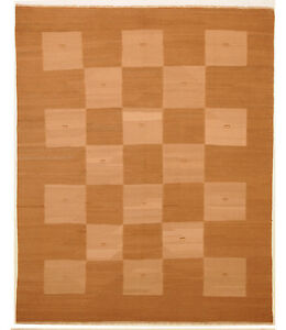 Brown 7 X 9 Kilim Rug Hand Knotted Persian Rug