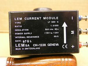 J00814 1 Pc Lem Lt 500 s Current Transducer 500 Amp 1 5000 15 To 24 Vdc