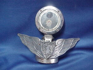 Oldsmobile Boyce Motometer Wing Hood Ornament Radiator Flip Cap Medical Monogram