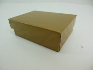 200 Jewelry Boxes Gift 32 Gold W Black Felt Ring Slot 3 1 16 X 2 1 8 X 1