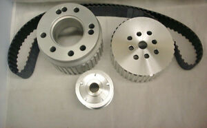 Sbf Small Block Ford Gilmer Belt Drive Pulley Kit Long Water Pump 289 302 351w
