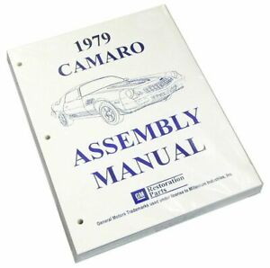 1979 Camaro Z28 Ss Factory Assembly Rebuild Instruction Manual Book 516 Pages
