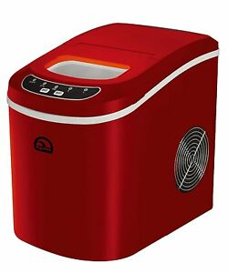 Ice Maker Machine Compact Countertop Portable Stainless Steel Icecube red Igloo