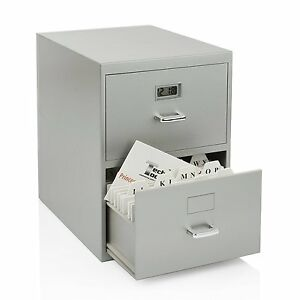 2 drawer Mini Filing Cabinet File Business Cards Office Work Gifts Organizer New