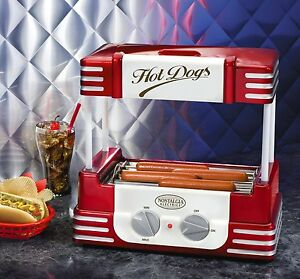New Hot Dog Roller Grill Bun Warmer Mini Electric Rolling Hotdog Cooker Machine