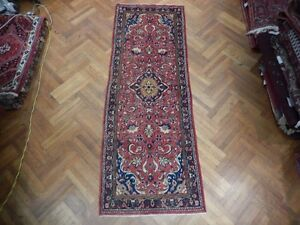 Extremely Durable 4 X 10 Nomadic Origin Persian Hand Knotted Sarouk Runner