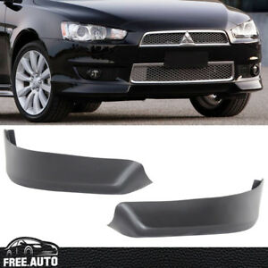 Fit For 2008 2015 Mitsubishi Lancer Oe Style Pp Front Bumper Lip Spoiler 2 Pc