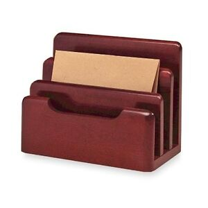 3 Section Wood Tones Desktop Tray Sorter Desk Mesh Holder File Letter Storage