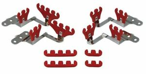 Moroso 72141 Small Block Chevy Wire Loom Kit For Centerbolt Heads Red 7 9mm