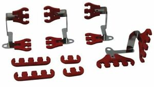 Moroso 72172 Small Block Chevy Spark Plug Wire Super Loom Kit Red Chrome