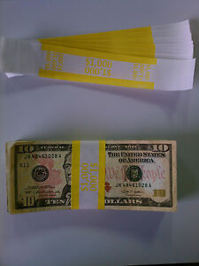 5 000 New Self sealing Currency Bands 1000 Denomination Straps Money Tens
