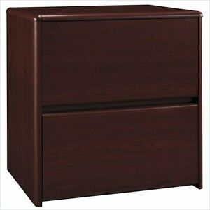 Filing Cabinet Office File Storage 2 Drawer Lateral In Cherry By Bush