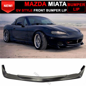 For 01 05 Mazda Miata Mx 5 Coupe Convertible Gv Style Front Bumper Lip Spoiler