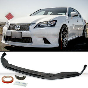 For 13 15 Gs350 F Sport Unpainted Sk Style Pu Front Bumper Chin Lip Body Kit