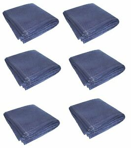 6pk Heavy Duty Moving Blanket Pro Quilted Pads 72 X 80 Furniture 69lbs dz