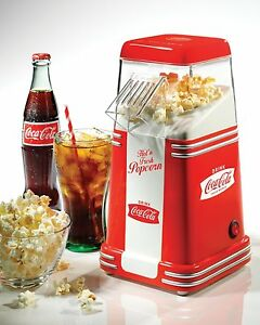 Coca cola Mini Electric Popcorn Popper Maker Machine Retro Coke Home Small Party