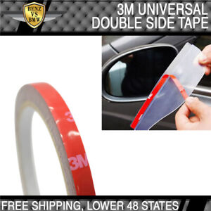 Universal Fitment 3m Double Sided Adhesive Glue Tape With Red Liner 1x Roll