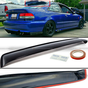 For 96 00 Civic 2dr Coupe Rear Window Roof Sun Rain Shade Vent Visor Spoiler