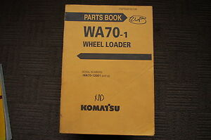 Komatsu Wa70 Wheel Loader Parts Manual Book Catalog Spare Front End Rubber Tire