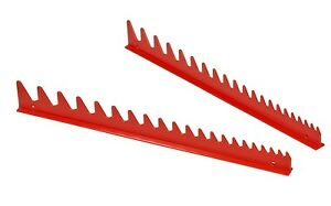 Ernst 6012 Red 20 Tool Wrench Organizer Rail Set