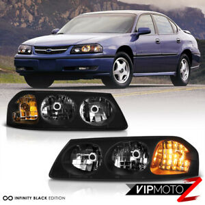 For 00 05 Chevrolet Impala Ss Ls Base Black Coolest Front Headlights Assembly