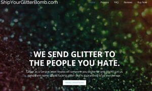 Shipyourglitterbomb com Business Ship Glitter To People You Hate Domain Website