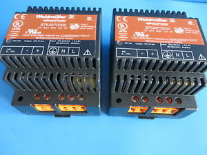 Weidmuller 8754970000 Power Supply Cp Snt 48w 12v 4a Lot Of 2