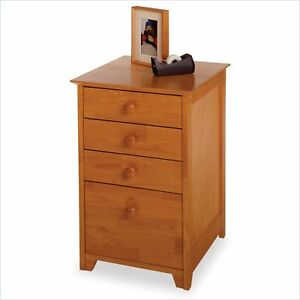 Filing Cabinet File Storage Drawer Wood Vertical Transitional By Winsome