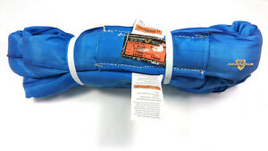 Blue Endless Polyester Round Sling Tubular 8 Long