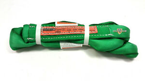 Green Endless Polyester Round Sling Tubular 14 Long