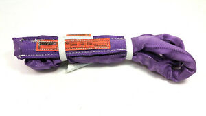 Purple Endless Polyester Round Sling Tubular 14 Long