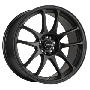 Set 4 16x7 40 5x100 114 3 Drag Dr 31 Black Wheels rims 16 inch 70075