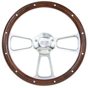 1964 1965 Chevy Chevelle El Camino Wood Steering Wheel W ss Horn And Boss Kit