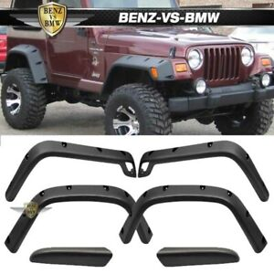 Fits 97 06 Jeep Wrangler Tj Sport Utility Pocket Rivet Fender Flares 6pc
