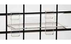 Gridwall Grid Acrylic Shoe Display Shelf 9 w X 4 d X 1 8 Thick Lot Of 24 New