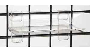 Gridwall Grid Acrylic Shoe Display Shelf 9 w X 4 d X 1 4 Thick Lot Of 25 New
