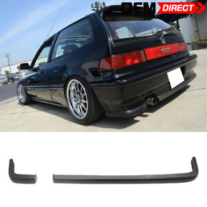 For 88 91 Civic 2dr 3dr Hatchback Jdm Ikon Lip 2pc Rear Bumper Lip