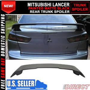 08 17 Mitsubishi Lancer Oe Style Abs Rear Trunk Spoiler Painted Matte Black