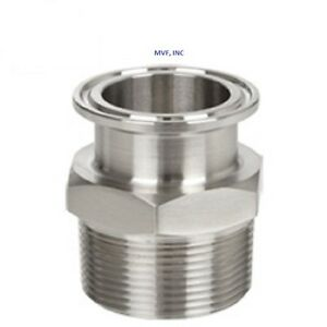 Sanitary 2 2 Npt Male Adapter 304s s Clamp End Dairy Tri Clover