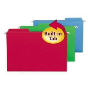 Smead Fastab Hanging Folders Legal Assorted 20 box smd64153