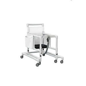 Deluxe Ultimate Pvc Walker With Foam Seat White 1 Ea