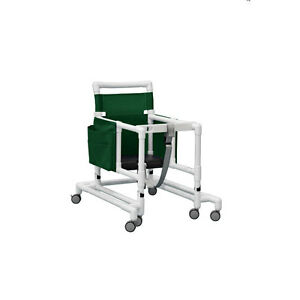 Deluxe Ultimate Pvc Walker With Foam Seat Forest Green 1 Ea
