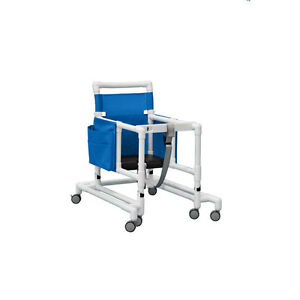 Deluxe Ultimate Pvc Walker With Foam Seat Blue 1 Ea