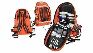 Orange E m s Trauma Backpack First Response Organized Back Pack Bag