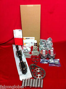 Cadillac 390 Master Engine Kit Pistons Moly Rings Cam Fel Pro Gaskets 1959 62