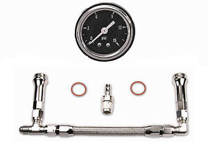 Quick Fuel Holley Dual Feed Fuel Gauge Line 6an Free Ship 34 6000 Ss Kit Black
