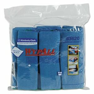 Wypall Microfiber Cloths W microban Blue 24 Cloths kcc83620ct