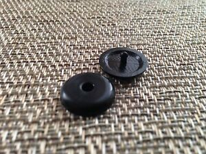 Seat Belt Buckle Stop Button Stopper Universal Fits Mitsubishi In Black Color