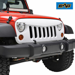07 18 Jeep Wrangler Jk Grille Shell Abs White Angry Bird Replacement Packaged