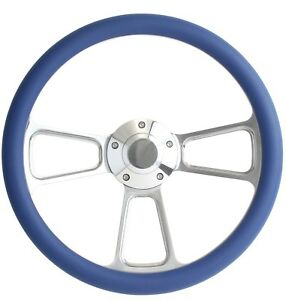 1965 1966 1967 1968 1969 Ford Mustang Royal Blue Steering Wheel Horn